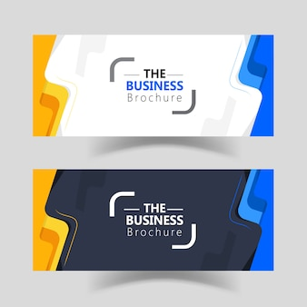 Modern simple business web banner templates design