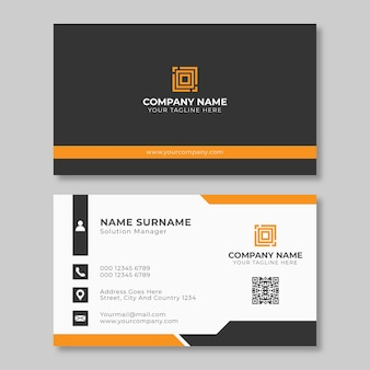 Modern simple clean professional business card template