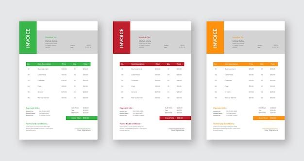 Современный простой шаблон счета-фактуры