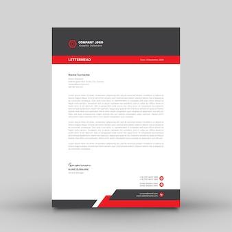 Modern simple letterhead template for company