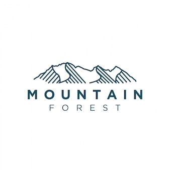 Modern and simple mountain logo design