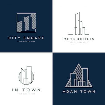 Modern simple property logo collection