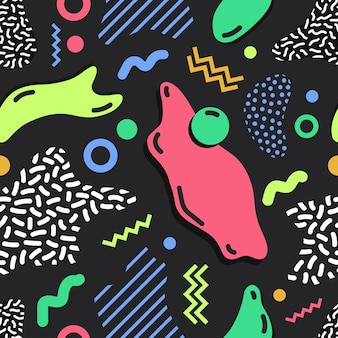 Modern simple seamless pattern with bright colored stains