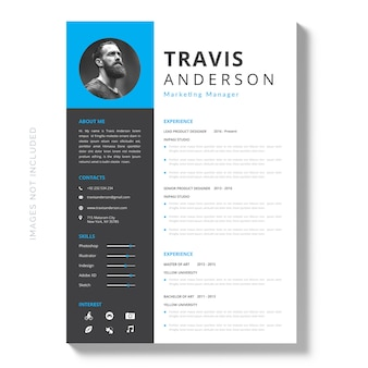 Modern simple template for curriculum