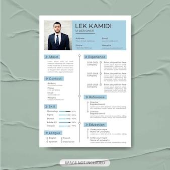 Modern simple template cv resume premium vector curriculum vitae  professional cv creative resume
