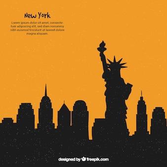 Modern skyline design of new york