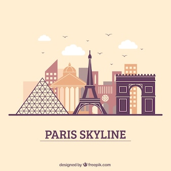 Modern skyline design of paris
