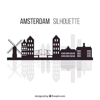 Modern skyline of amsterdam