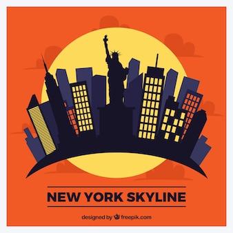 ニューヨークの近代的なスカイライン
