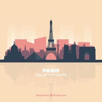 Modern skyline of paris
