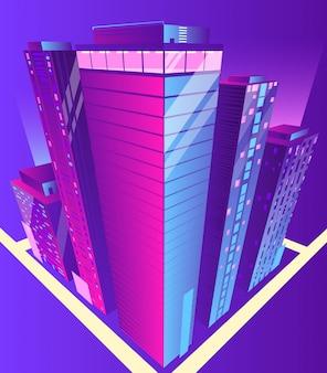 Modern skyscrapers buildings