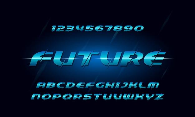 Modern slash alphabet font. typography urban style fonts for technology