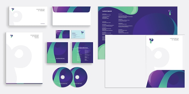 Modern and sleek corporate business identity stationary