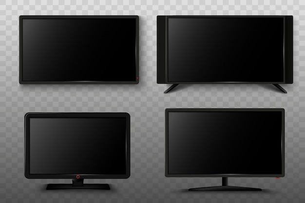 Modern smart tv set 3d   illustration.