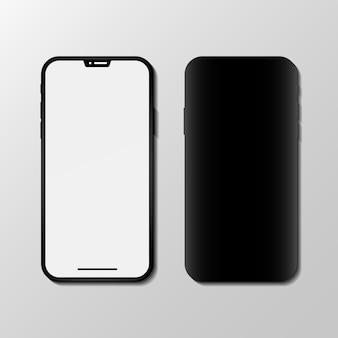 白で隔離の現代のスマートフォン
