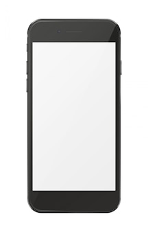 Modern smartphone isolated on white.