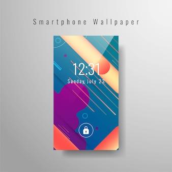 Modern smartphone wallpaper