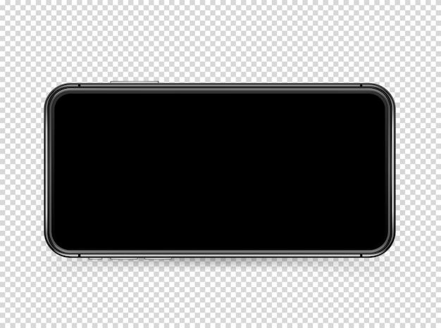 空白の画面を持つ現代のスマートフォン