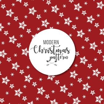 Modern snow flakes christmas pattern background