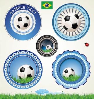 Modern soccer background