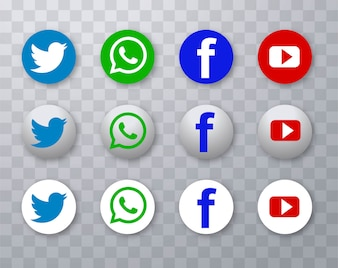 Modern social media icons set design