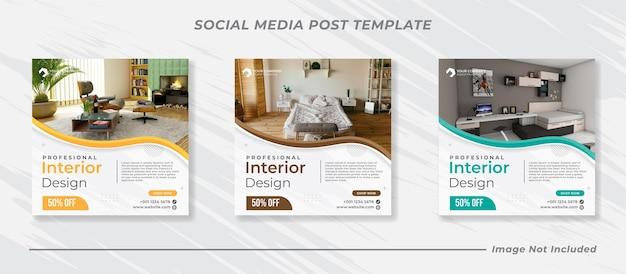 Modern social media instagram feed post banner bundle