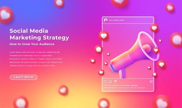Modern social media marketing illustration