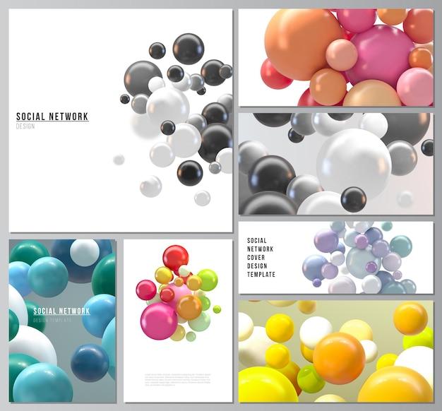 Modern social network mockups for cover design website design