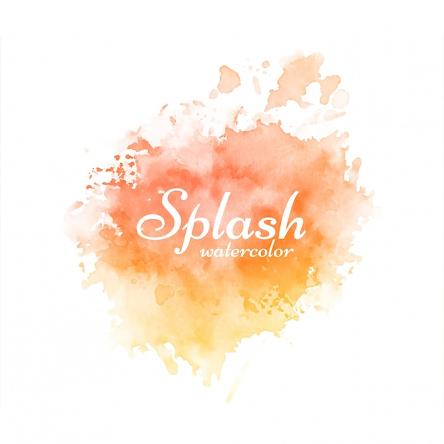 Modern soft bright watercolor splash design
