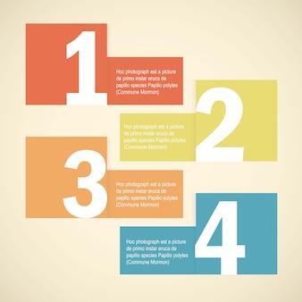 Modern soft color design template vector illustration