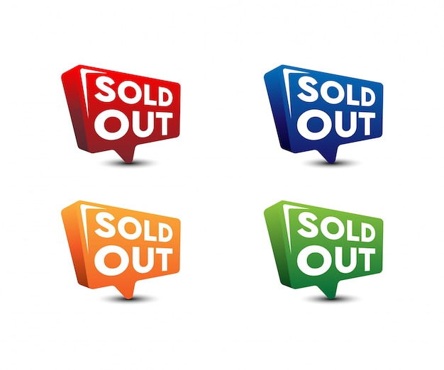 Modern sold out banner  ,