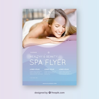 Modern spa flyer template with elegant style
