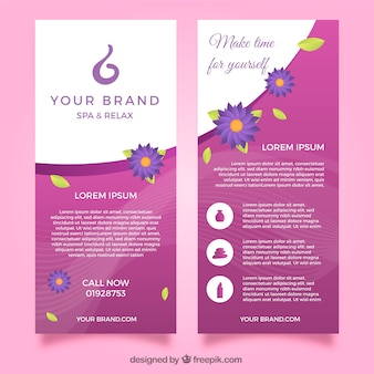 Modern spa flyer template with lovely style