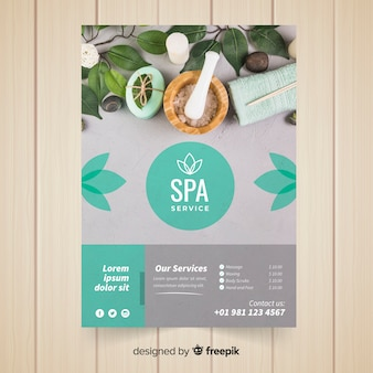 Modern spa flyer template