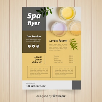 Modern spa flyer template