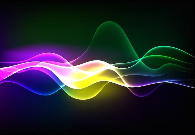 Современные говорящие звуковые волны, излучающие темно-синий свет