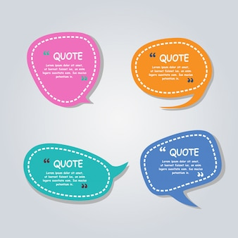 Modern Speech bubbles balloons colorful template