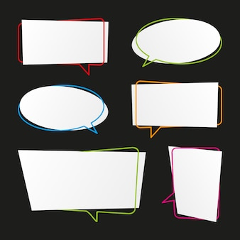 Modern speech bubbles collection
