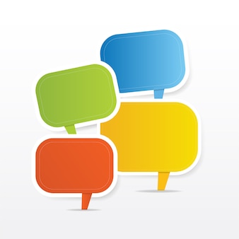 Modern speech bubbles in different colors