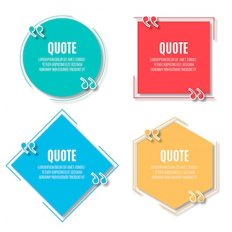 Modern speech bubbles for quotes