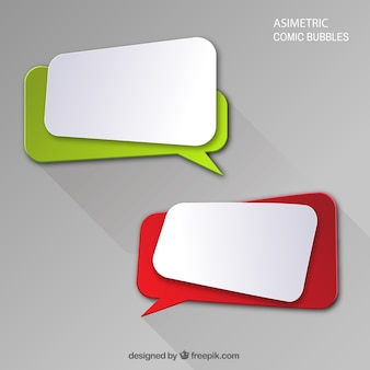 Modern speech bubbles