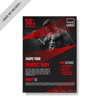 Modern sport fitness flyer layout template