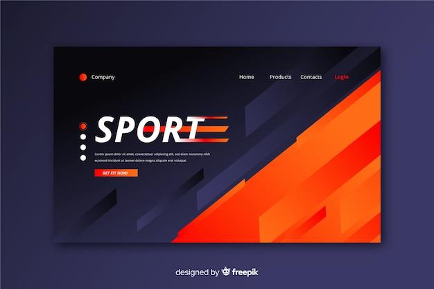 Modern sport landing page template