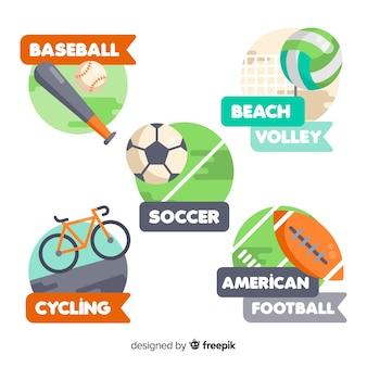 Modern sport logo collection