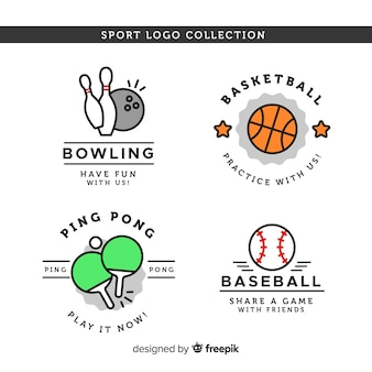 Modern sport logo collection