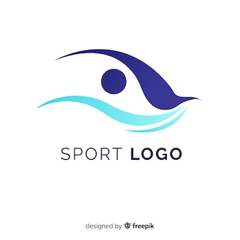 Modern sport logo template with abstract design