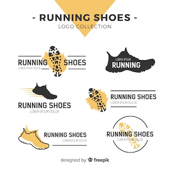 Modern sport shoes logo template collection