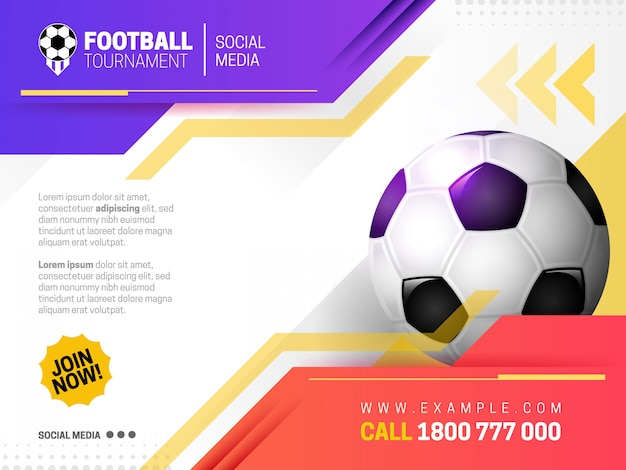 Modern sports banner with purple and red theme