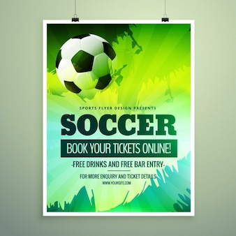 Modern sports flyer with green theme