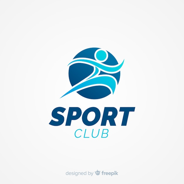 Modern sports logo template with flat design